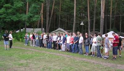 Zbiórka na zajęcia - nabór 2005