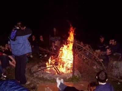 IAYC 2005 - ostatnia noc obozu (pożegnalne ognisko)