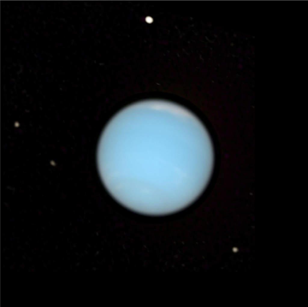Ujęcie Neptuna pochodzące z filmu wykonanego przez Teleskop Hubble'a