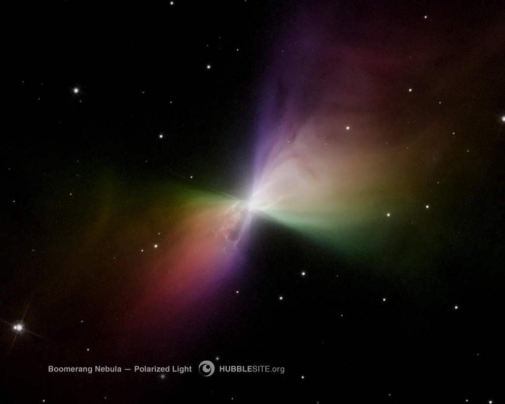 Mgławica Bumerang widziana przez Hubble'a