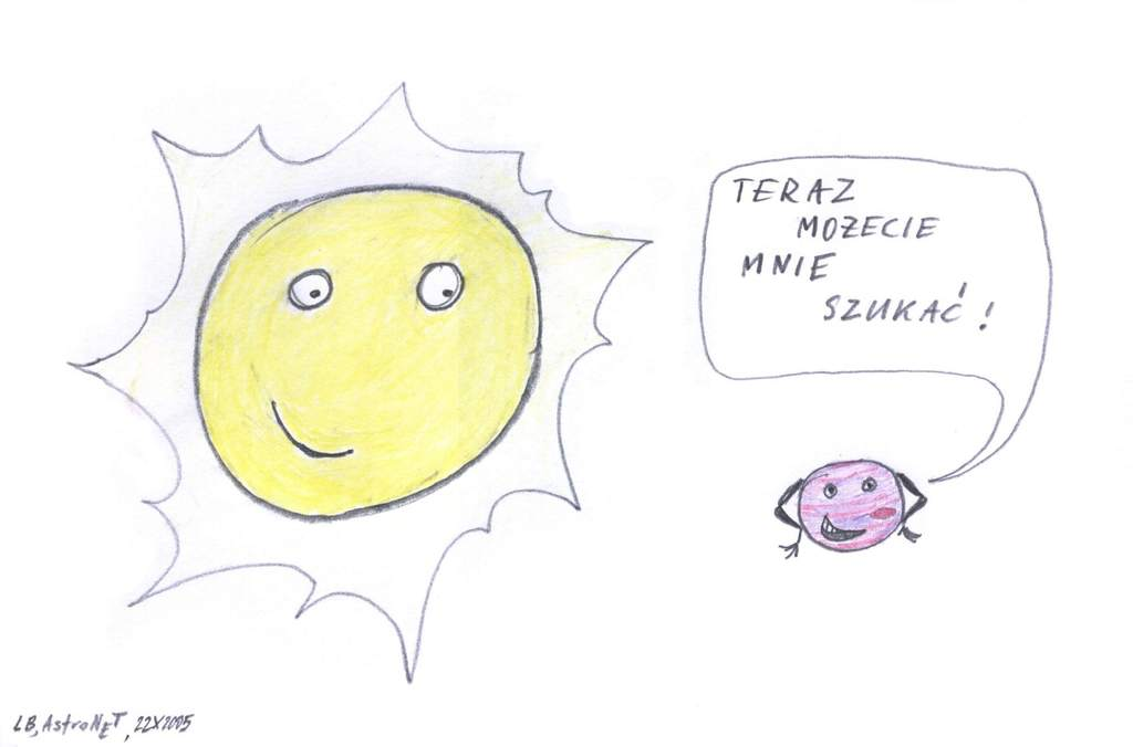 Piórkiem iwęglem: Jowisz koło Słońca