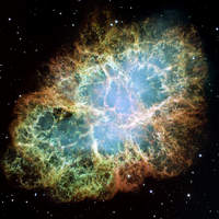 Mgławica Krab - mozaika Hubble'a