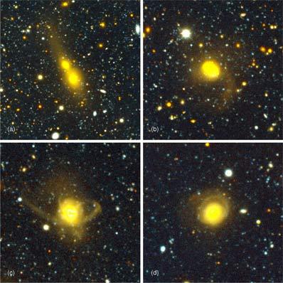 Przykłady galaktycznych kolizji