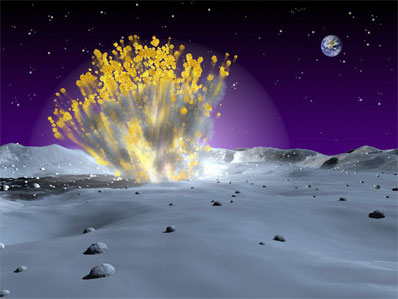 Upadek meteorytu na Księzycu