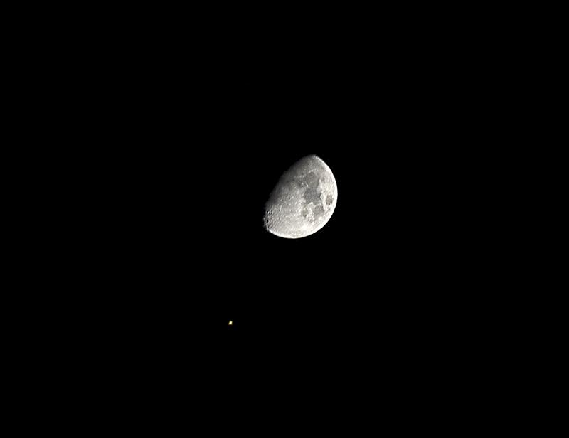 Księżyc i Mars, 8 stycznia 2006