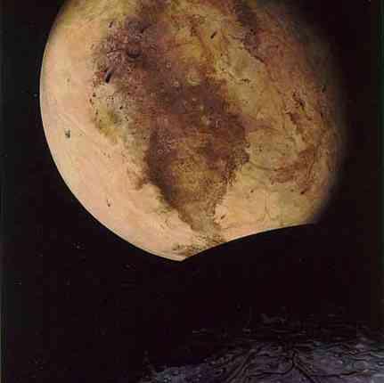 Artystyczna ilustracja Plutona częściowo zaćmionego przez Charona