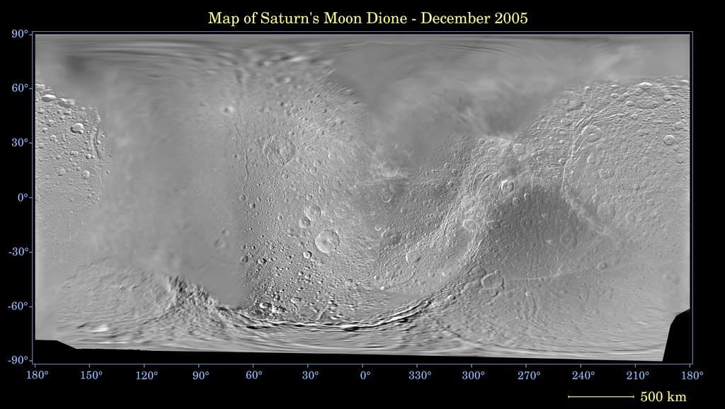 Mapa Dione