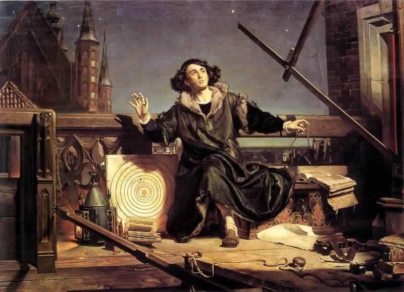 Kopernik w pracowni - wizja J. Matejki