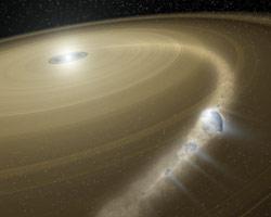 Kometa rozprasza materię