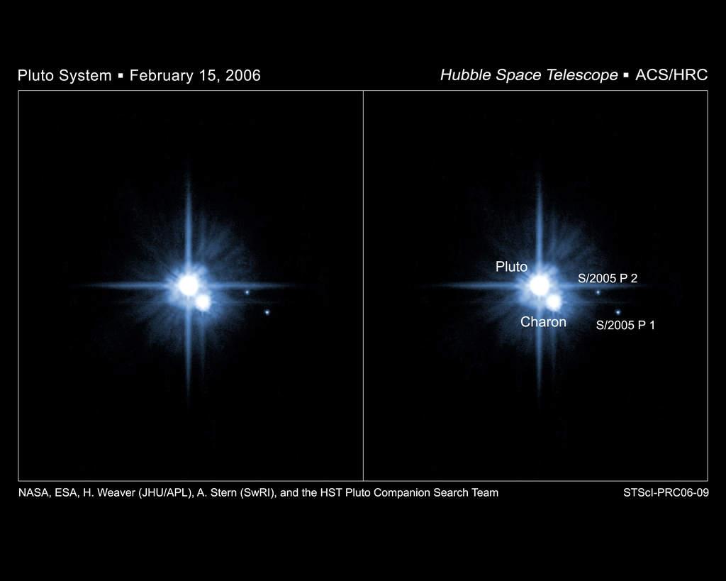 Zdjęcia nowo odkrytych księżyców Plutona