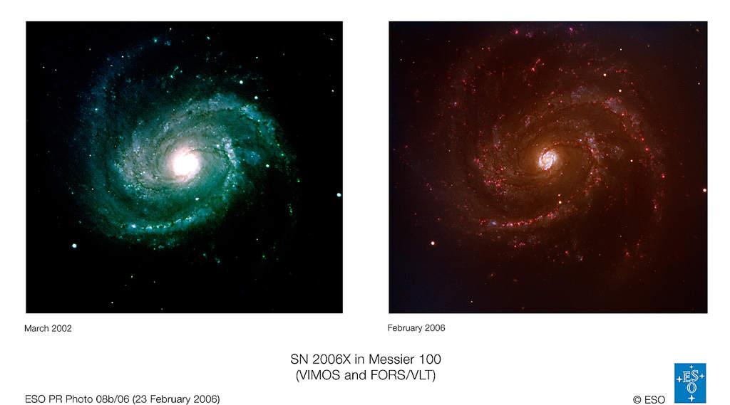 M100 przedipowybuchu SN 2006X