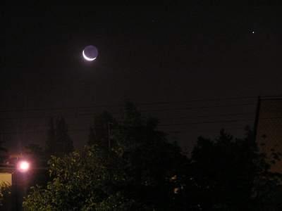 Koniunkcja Księżyca zSaturnem 1 IX 2005