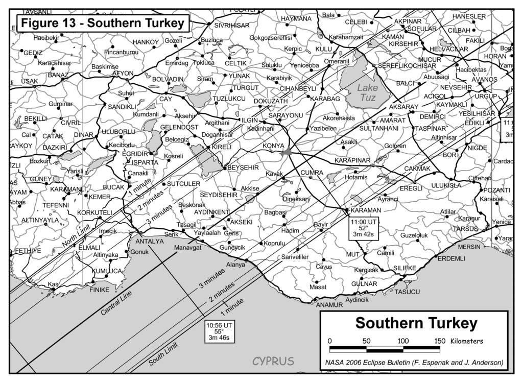 Całkowite zaćmienie Słońca 29 marca 2006 w południowej Turcji