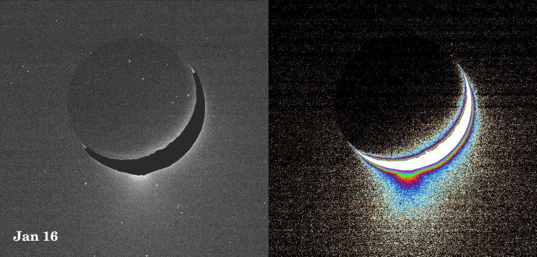 Lodowy gejzer Enceladusa (styczeń 2005)
