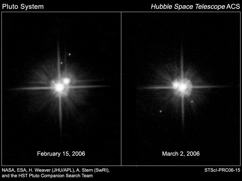 P1 i P2 - nowe księżyce Plutona
