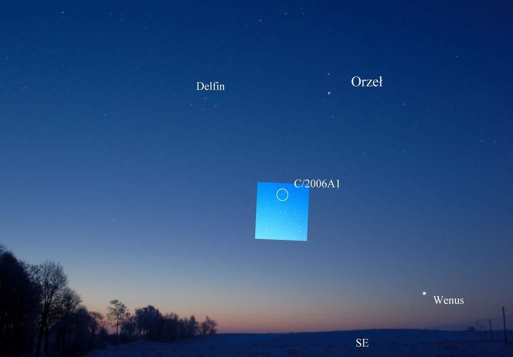 Kometa Pojmańskiego sfotografowana przezodkrywcę