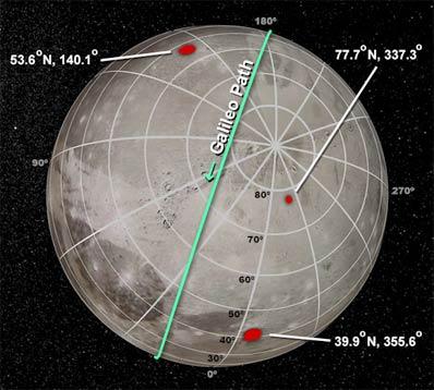 Mapa Ganimedesa