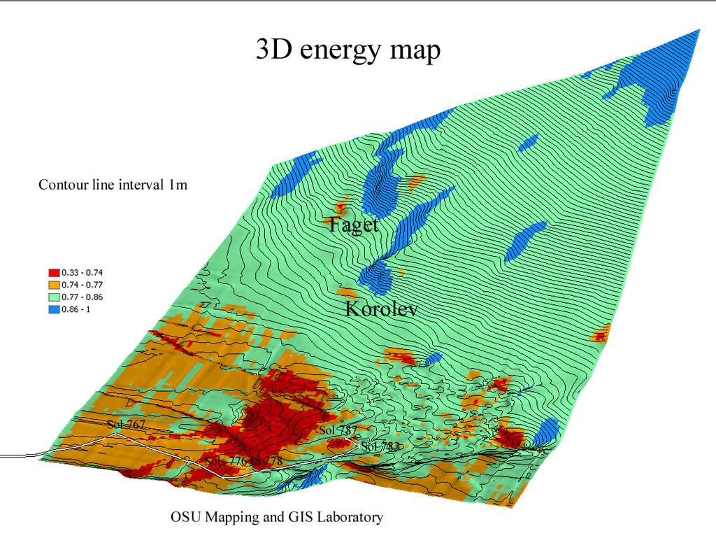 Mapa lokalizacji Spirita wkwietniu 2006 roku