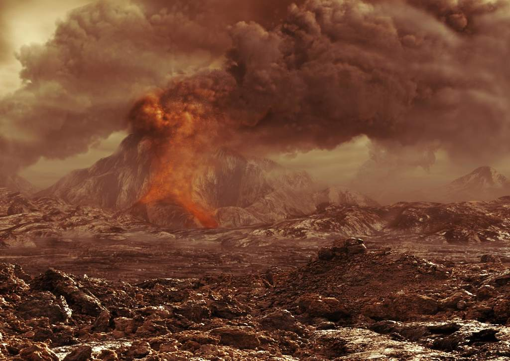 Wulkany na Wenus - wizja artystyczna