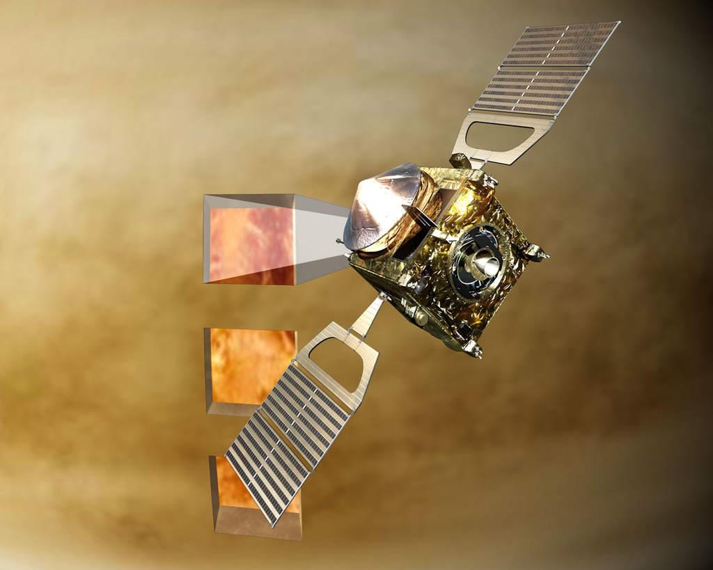 Venus Express podczas pracy (okna podczerwone)