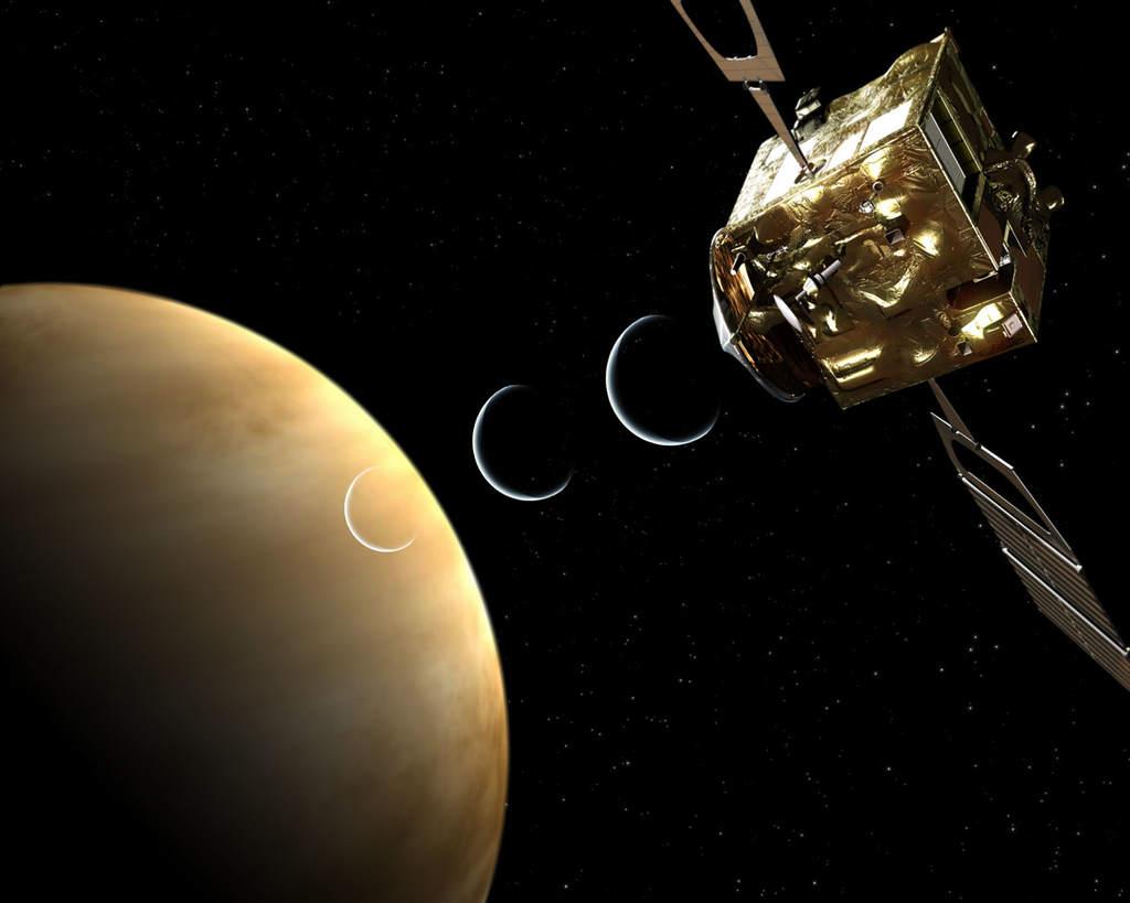 Venus Express podczas pracy (eksperyment radiowy)