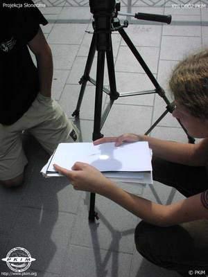 Obserwacja plam słonecznych metodą projekcji