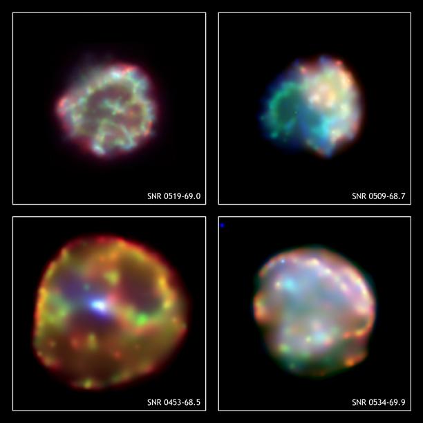 Pozostałości po czterech supernowych