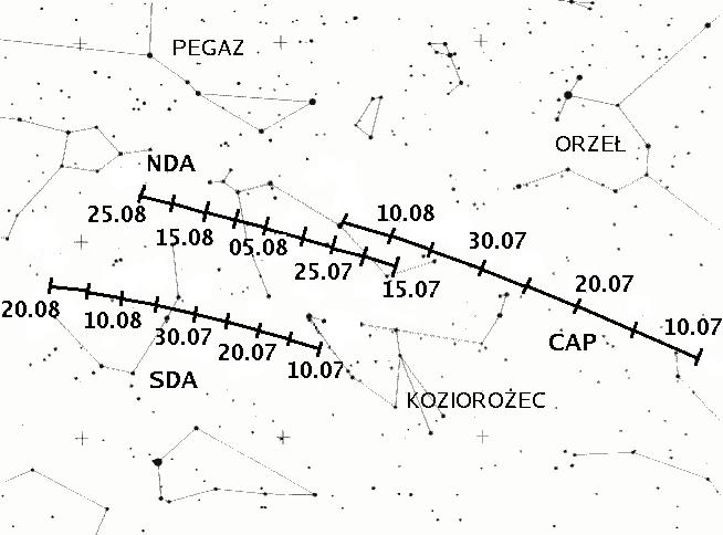 Ruch radiantów rojów kompleksu Aquarydow-Capricornidów (1)