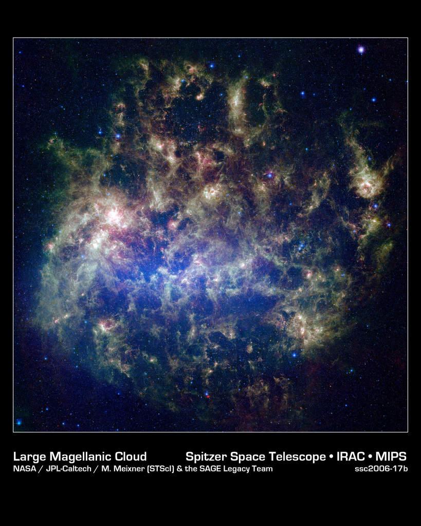 Wielki Obłok Magellana widzany przez Spitzera