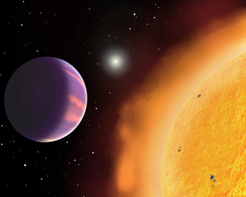 Planeta HAT-P-1 - wizualizacja