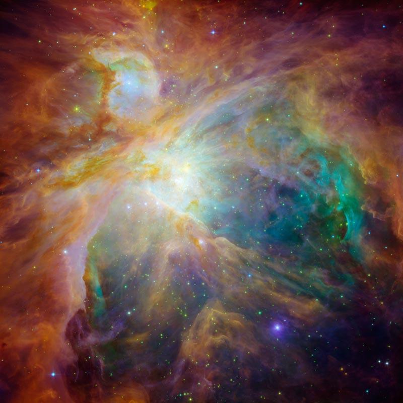 M42 - Mgławica Oriona w fałszywych barwach