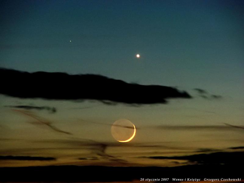 Złączenie Wenus z Księżycem - styczeń 2007