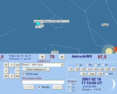 Złączenie Wenus zKsiężycem - luty 2007 (1)