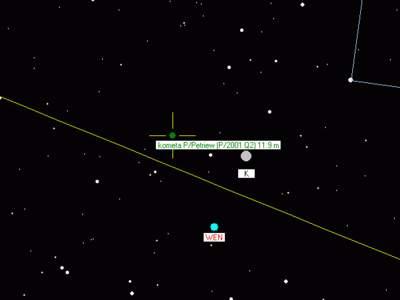 Złączenie Wenus zKsiężycem - luty 2007 (2)