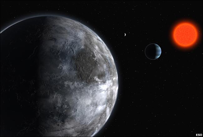 Planeta typu ziemskiego na orbicie Gliese 581