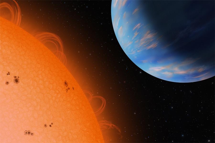 Artystyczna wizja układu planetarnego