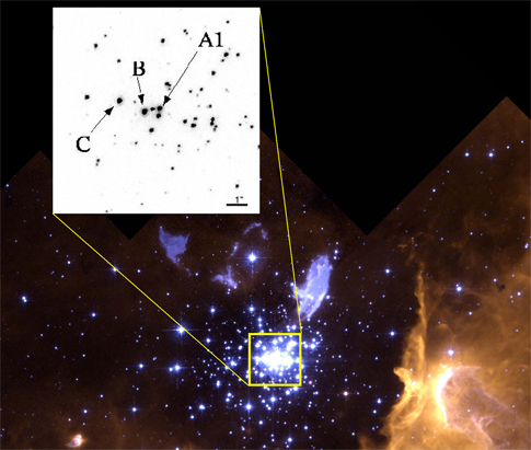 Masywna gwiazda w NGC 3603