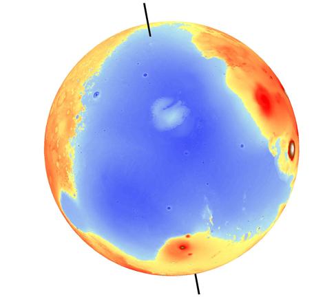Wysokości na powierzchni Marsa
