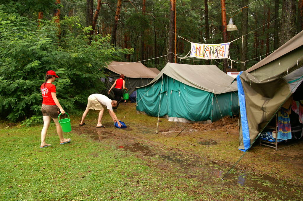 Powódź na obozie 2007