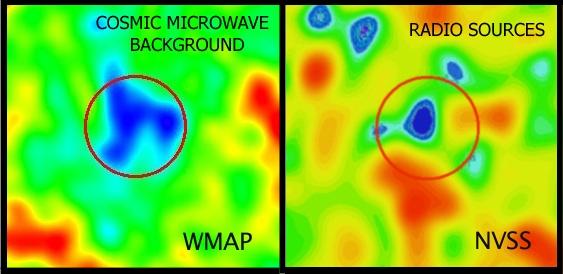 Chłodna plama - WMAP i NVSS