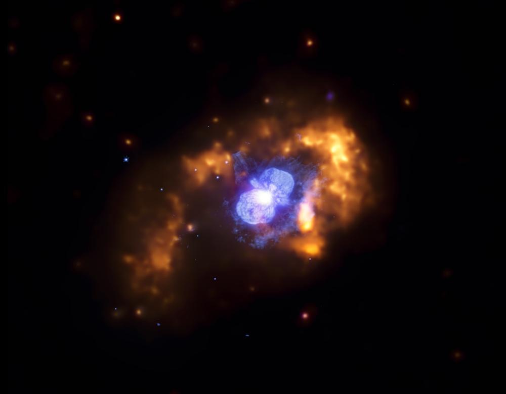 Eta Carinae w zakresie fal widzialnych i rentgenowskich