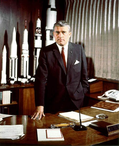 Wernher von Braun w NASA