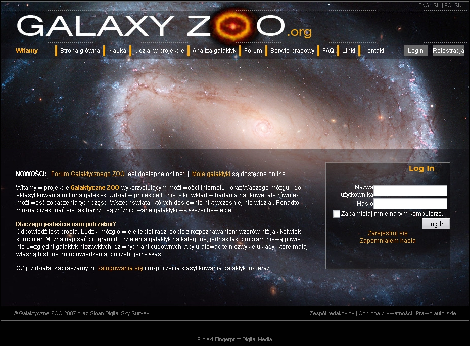 Polska wersja językowej Galaktycznego Zoo