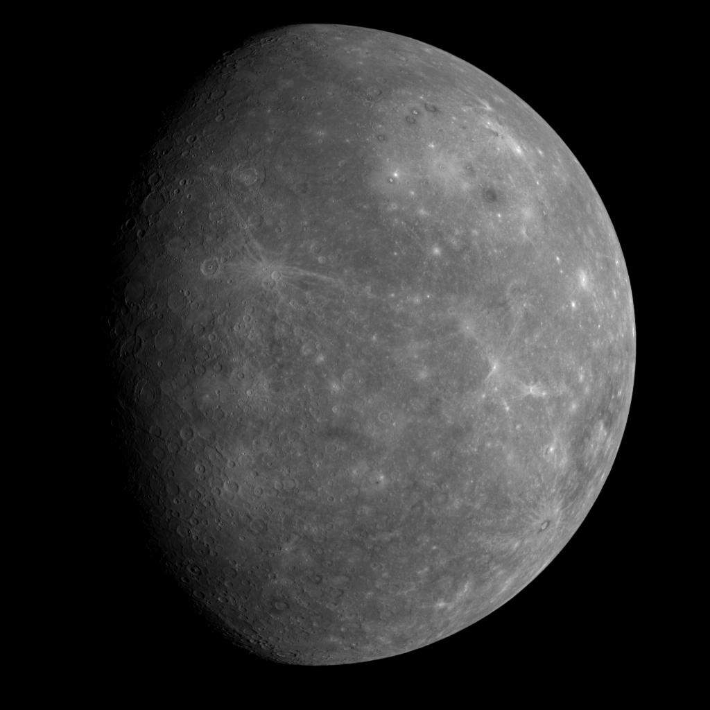 Merkury sfotografowany przez Messengera