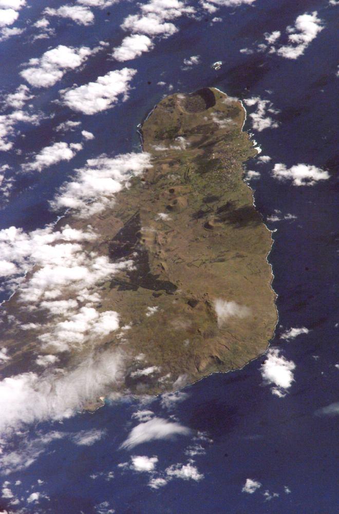 Wyspa Wielkanocna - zdjęcie satelitarne