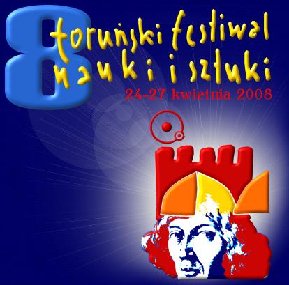 Logo 8 Toruńskiego Festiwalu Nauki i Sztuki