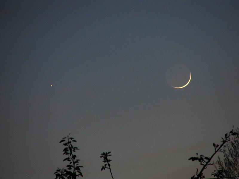 Księżyc i Merkury upolowane