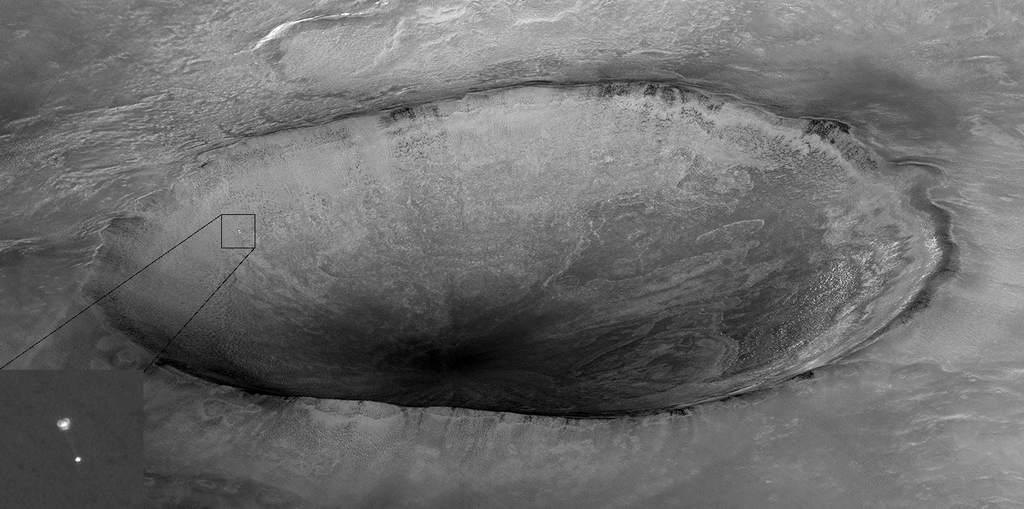Lądowanie Phoenixa widziane z MRO