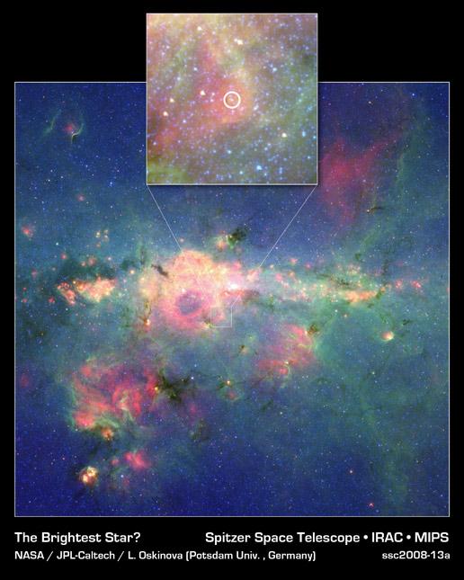 Druga najjaśniejsza gwiazda Drogi Mlecznej
