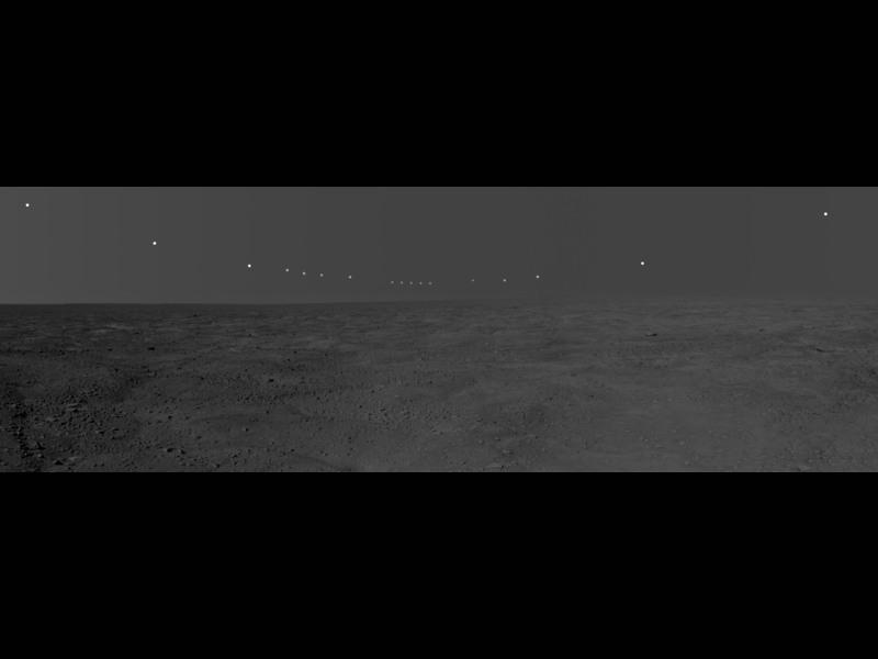 Dzień polarny na Marsie